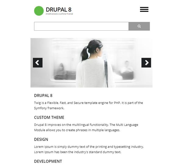 Drupal 8 Custom Theme | Zymphonies
